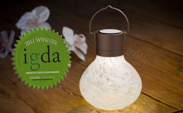 Our Beautiful Hand Blown Glass Solar Tea Lantern In White Catches The Sunu0027s  Rays By Day · Outdoor Solar LanternsGlass ...
