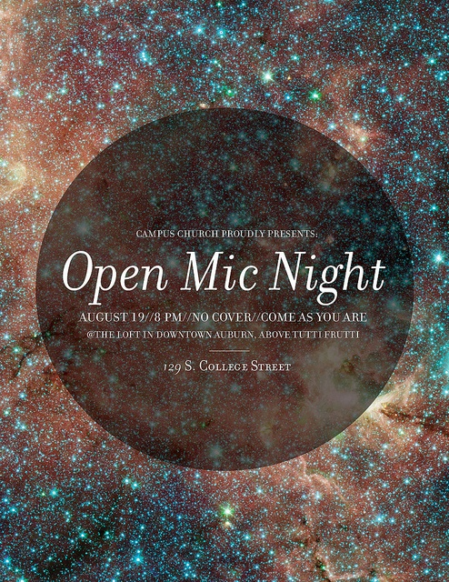 Open Mic Night 2011...would be an awesome poster design for an event