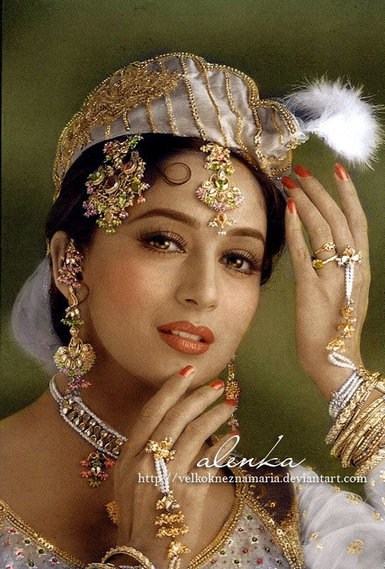 Madhuri Dixit by VelkokneznaMaria.deviantart.com