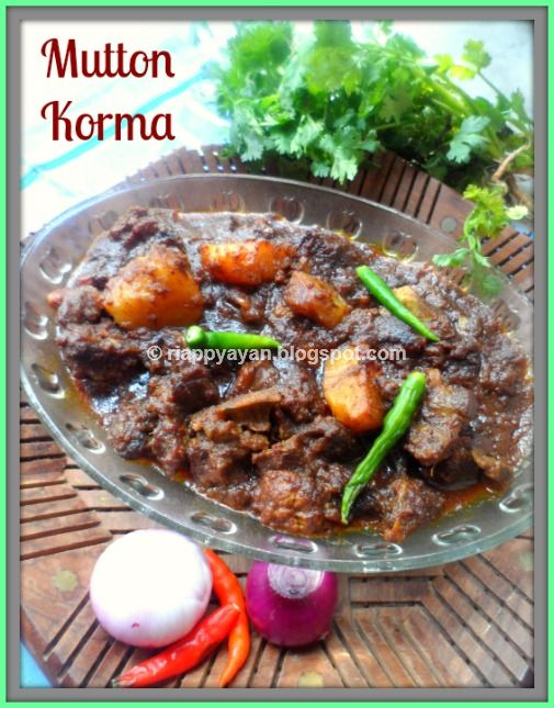 Mutton Korma ~ A spicy and Juicy Goat Meat Curry - Recipe Junction