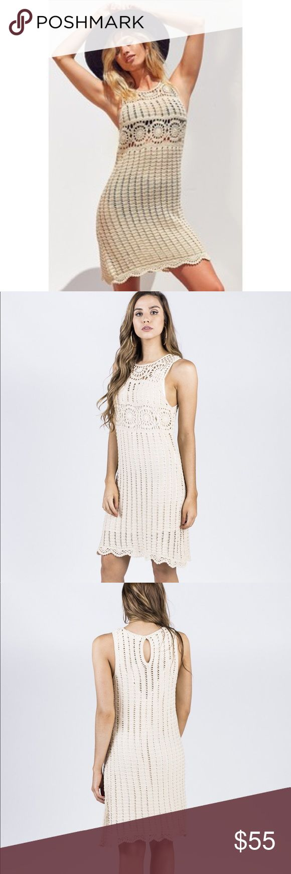 NWT🦋Festival Boho Gypsy Crochet Dress Awesome festival boho gypsy crochet dress, perfect to dress up or down! Armpit to armpit is approximately 16 inches, length is approximately 39 inches, has Slip that can be worn with or without!   Festival boho bohemian gypsy weekend wedding vacation hippie vibes Dresses