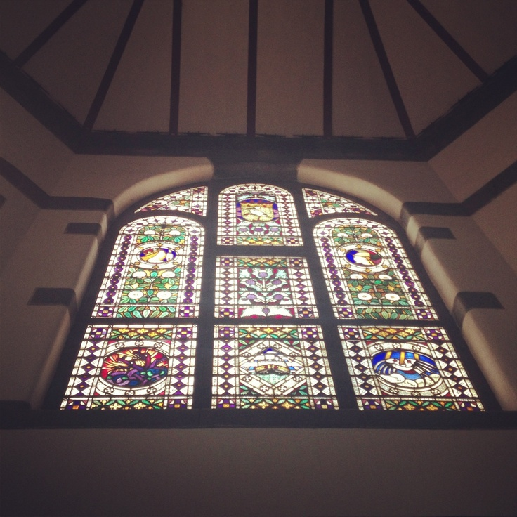 Lawang Sewu Building built in 1904 located in Semarang - Central Java...a breathtaking mosaic stained glass window