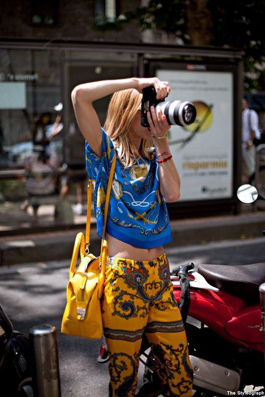 stylish street style photographers at work fashion week
