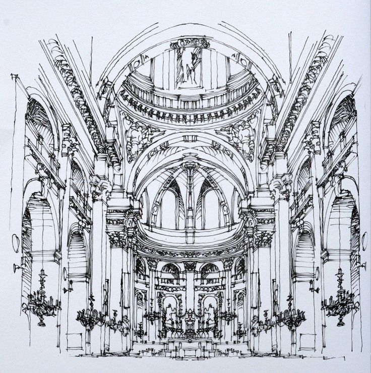 钢笔手绘巴黎建筑2   陈新生作品