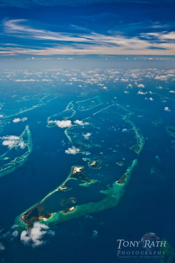 Belize Barrier Reef from 10,000 ft. by Tony Rath, via 500px