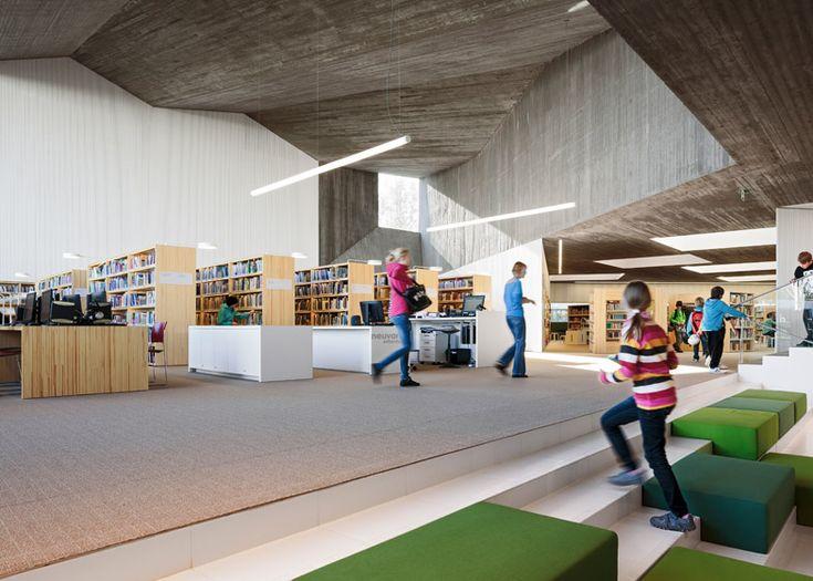 Cavernous Copper Clad Library Designed For Alvar Aaltos Historic Civic Centre