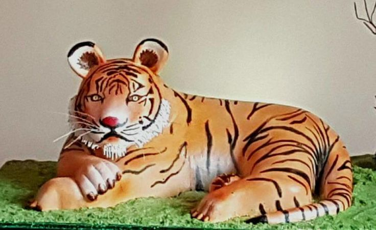 3D Tiger in Cream /Incredible India Collaboration  - cake by Michelle's Sweet Temptation