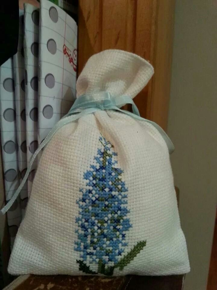 Parfum Bag cross-stitched