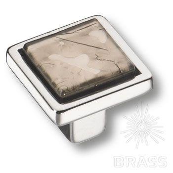 15.320.00 VS 14 07 Ручка кнопка квадратная, эксклюзивная коллекция, глянцевый хром