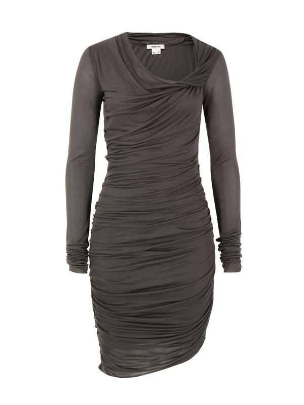 Helmut Lang Moody Grey Slack Jersey Dress