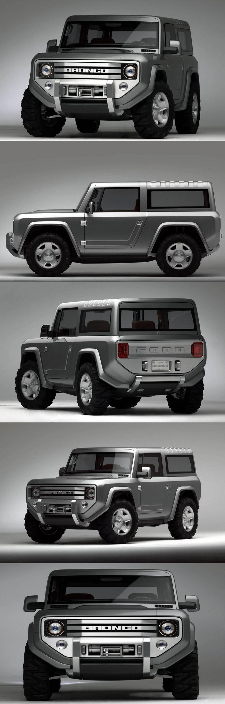 Ford Bronco Concept. If made i would totally get this!