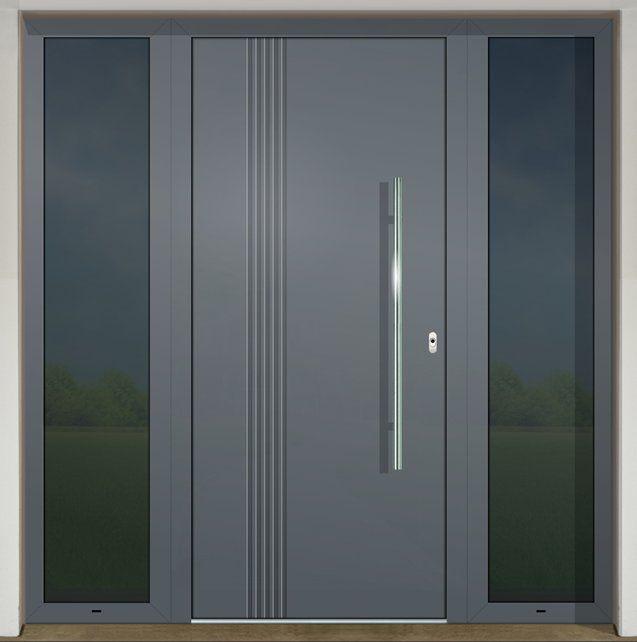 Vchodové dvere s hliníkovou dvernou výplňou GAVA 401L FD (s prekrytým krídlom)