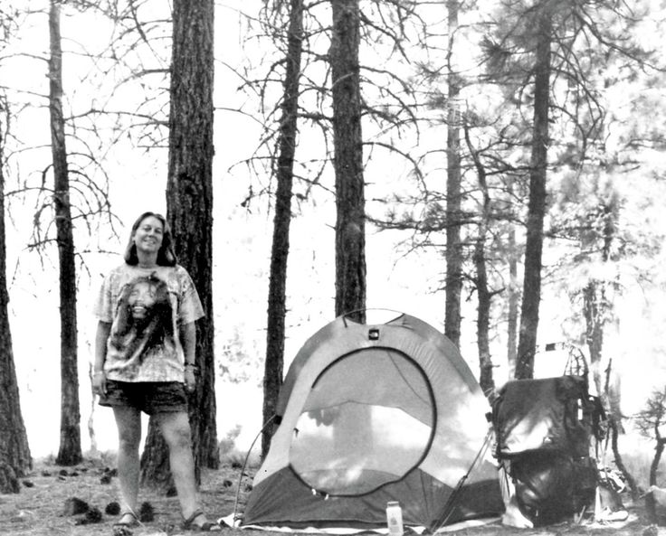 Strayed, on the Pacific Crest Trail, 1995.