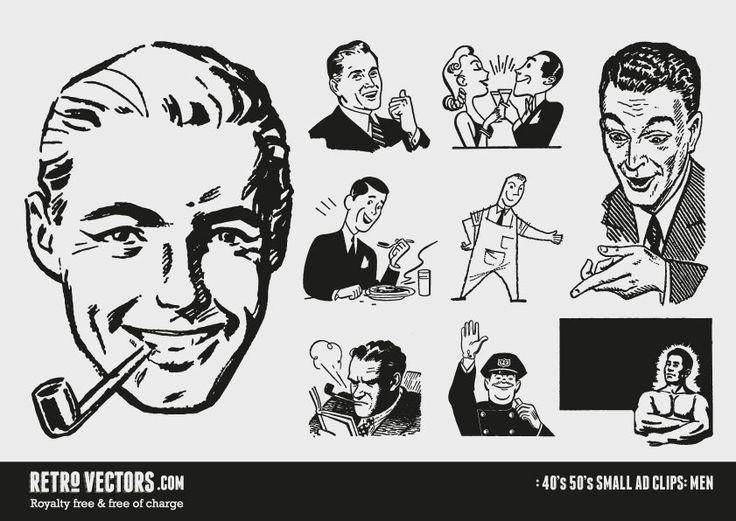 free 50s vectors | Graphic Design: Freebies retro ...