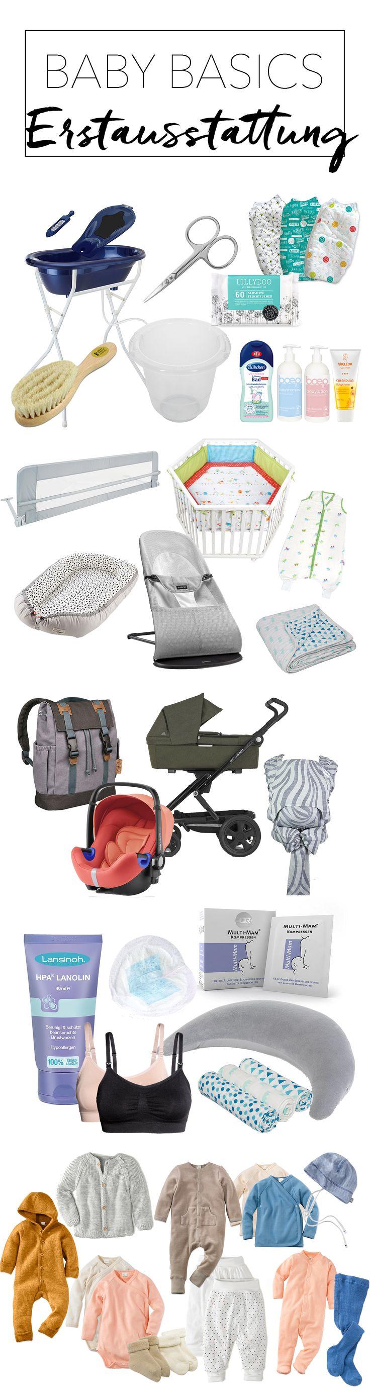 Erstausstattung für das Baby - Baby Basics. Die schönsten Kinderwagen, Pflegeprodukte und Hilfe zum Stillen. Was benötigt man an Kleidung?