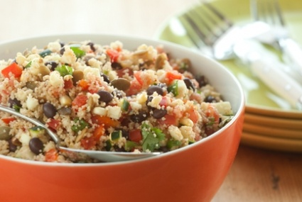 Whole Wheat Orzo And Grilled Vegetable Salad With Feta, Olives, And ...