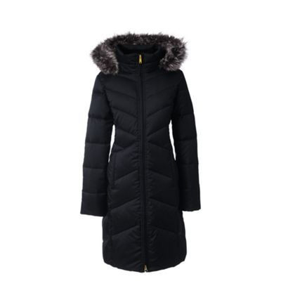 Lands' End Black hyperdry down shimmer coat | Debenhams