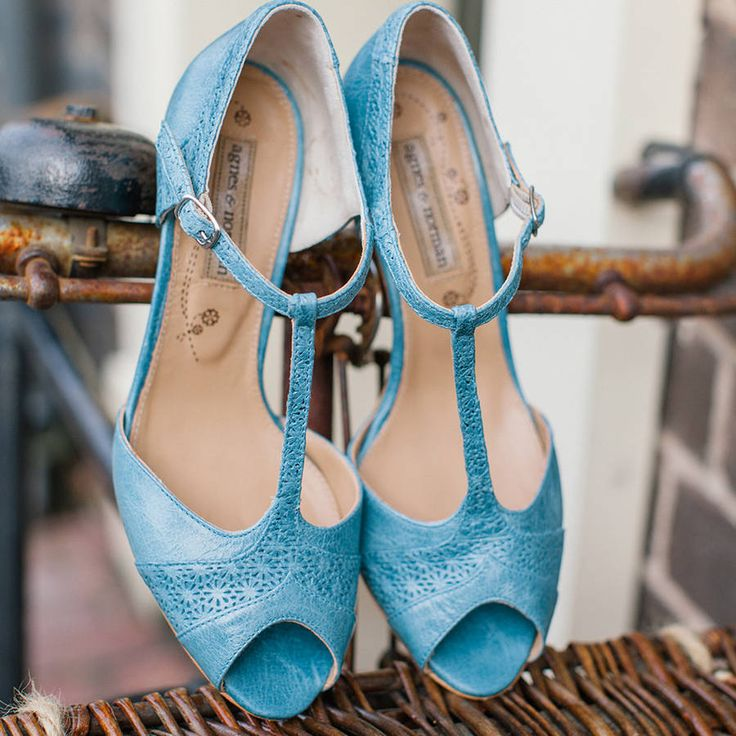 nora leather vintage t bar shoes by agnes & norman | notonthehighstreet.com
