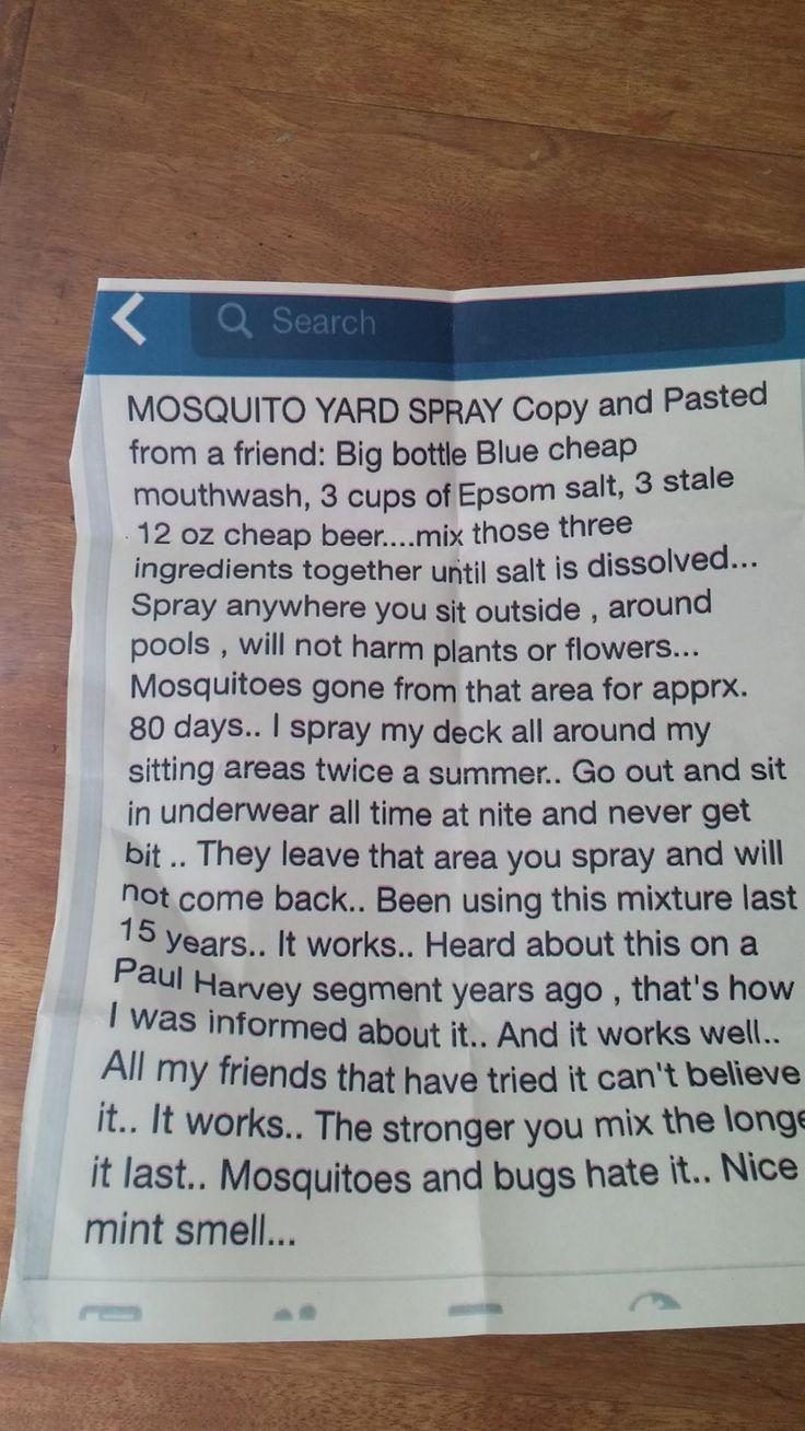 DIY mosquito yard spray