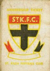 Membership Tickets :: 1953 Season Membership Ticket St Kilda Saints -