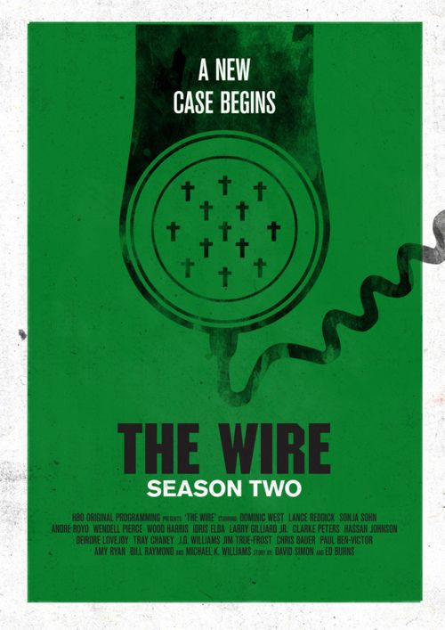 The Wireby Rob Deacon   #thewire #tvposters #minimaltvposters