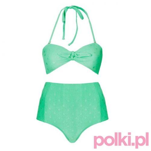 Strój kąpielowy tuszujący wystający brzuch, Topshop #polkipl
