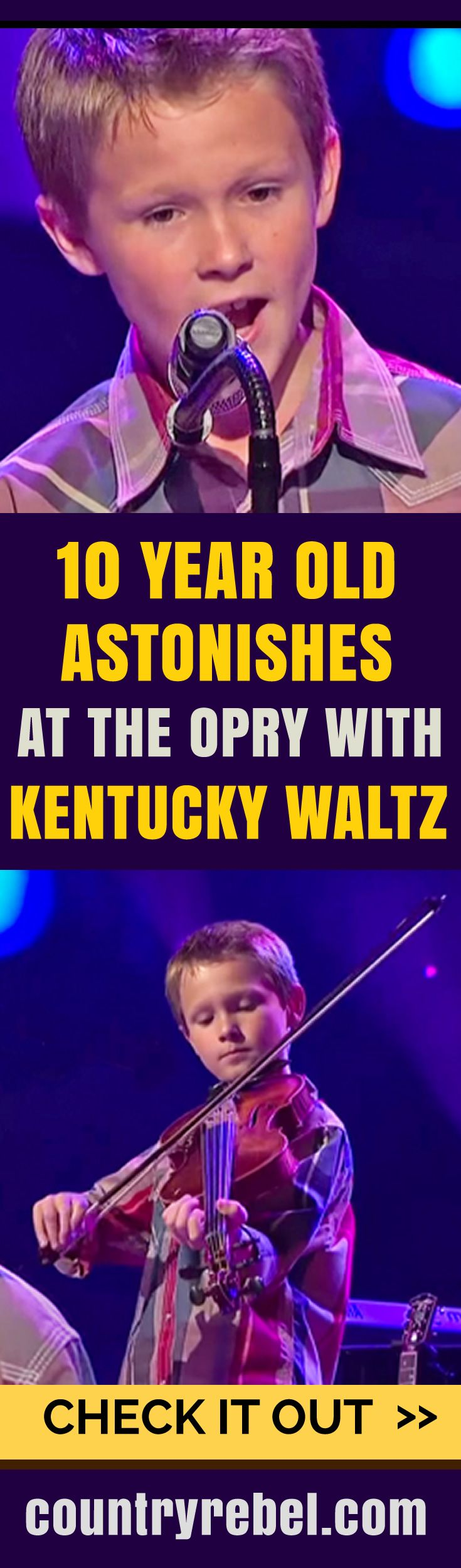 Country music news 10 year old astonishes at the grand ole opry with kentucky waltz
