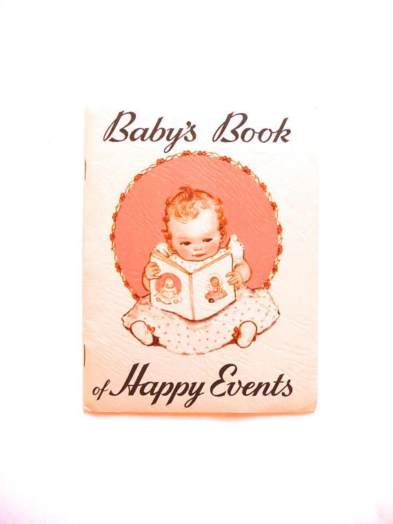 Baby's Book of Happy Events Milestone Booklet from the