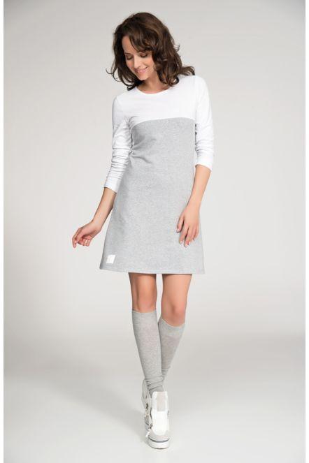Dámské šaty značkové volnočasové šedo-bílé  a67b40d5a99