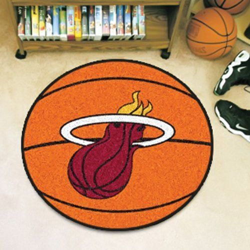 Miami Heat NBA Sports Team Logo Round Indoor Outdoor Area Rug Basketball Floor Mat Carpet 27 Orange ** You can find out more details at the link of the image.