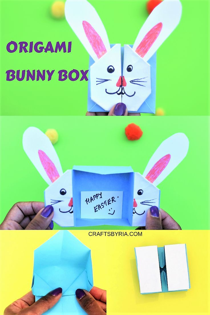 Easter Bunny Box Cute Easter Craft For Kids Easter Kids
