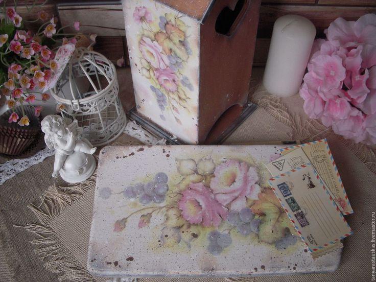 """Купить """" Аромат чайной розы"""" - набор для кухни - орех, чайная роза, домик для чая"""