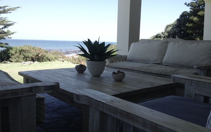 The Nook: Patio view of ocean. FIREFLYvillas, Hermanus, 7200 @fireflyvillas ,bookings@fireflyvillas.com,  #TheNook  #FIREFLYvillas # HermanusAccommodation