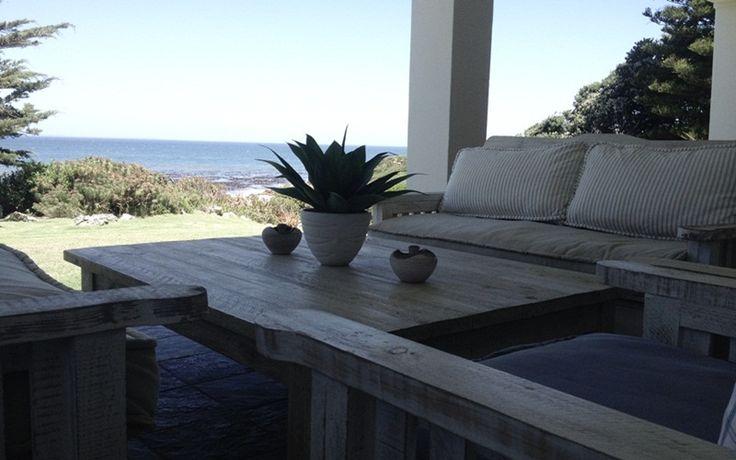 The Nook: Patio view of ocean. FIREFLYvillas, Hermanus, 7200 @fireflyvillas ,bookings@fireflyvillas.com,  #TheNook  #FIREFLYvillas # HermanusAccommodation
