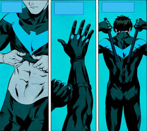 Nightwing Suiting Up
