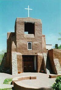 Oldest church in the US, built in 1610, Santa Fe, New Mexico