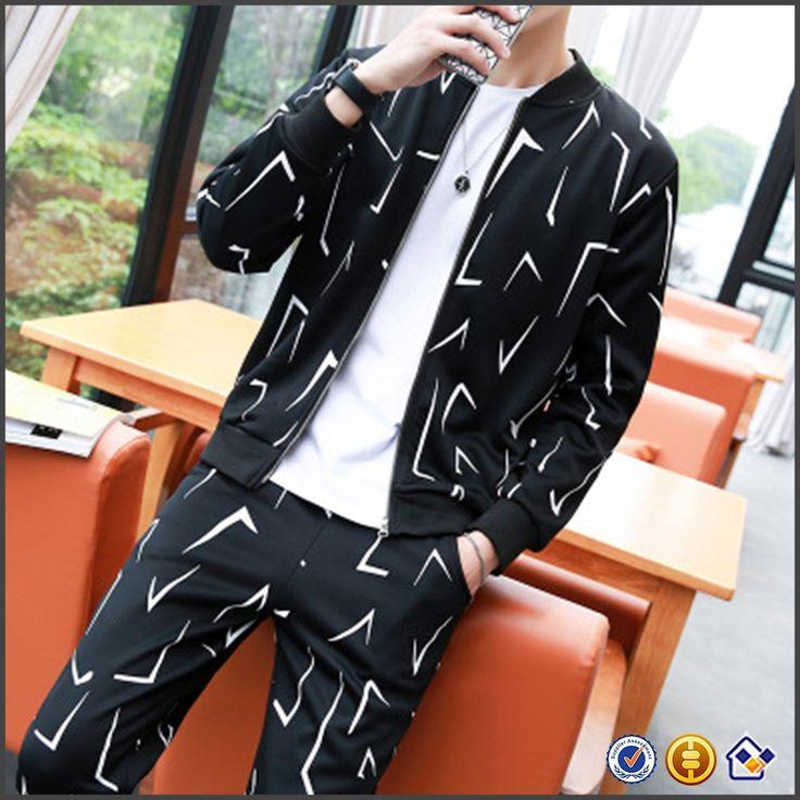 plus size CONTRAST COLOR fleece grey black white new mens joggers sets suit men sportswear jacket jog sweatshirts sets free ship