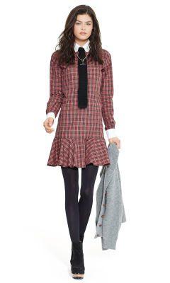 Tartan Long-Sleeved Shirtdress - Polo Ralph Lauren Sale - RalphLauren.com
