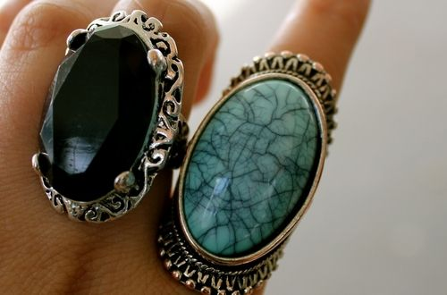 : Bling, Big Rings, Fashion, Style, Chunky Rings, Jewelry, Turquoise Rings, Accessories