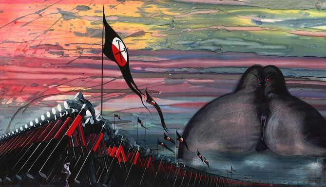 Gerald Scarfe автор рисунков для анимации в фильмк Алана Паркера «the wall», снятый на музыку одноименного альбома группы Pink Floyd   Art-sluza