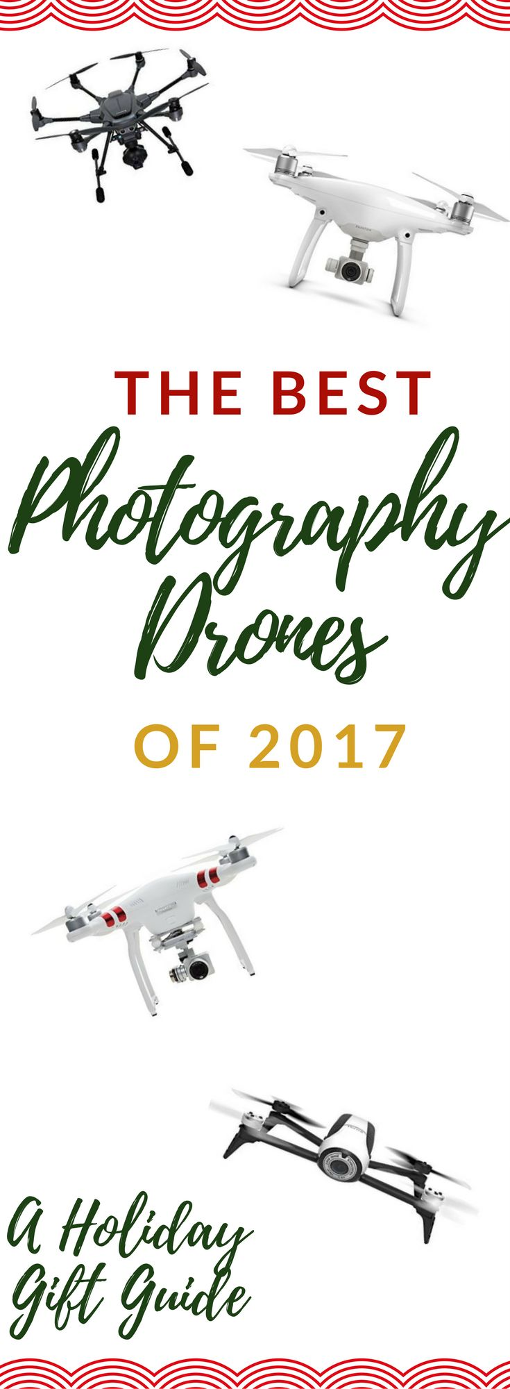 Whether you are shopping for the skill set of: casual enthusiast, hobbyist, or pro, find the best photography drones of 2017! | Gift Guides | Drones | Tech Savvy | For Him | For Teen Boys | For Teenage Boys