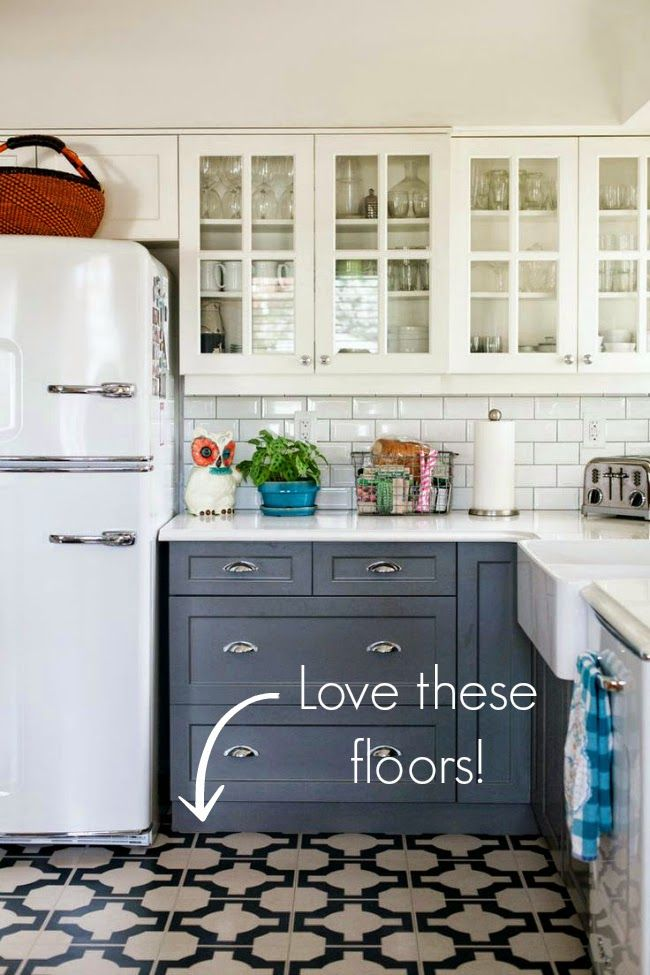 High Heels and Training Wheels: DIY Floors: Vinyl to Tile for Only $50