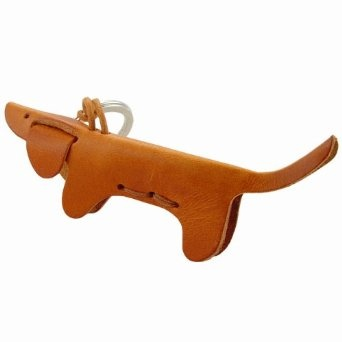 CANE - Dog Italian Leather Key Chain