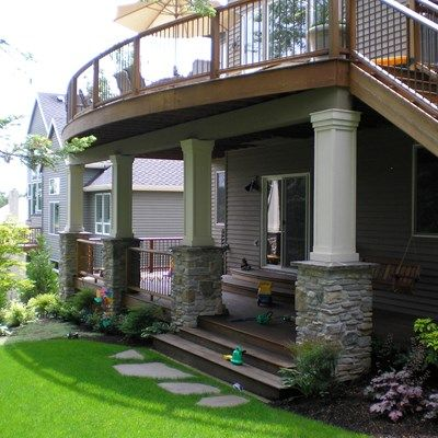 no step out of basement door rather off of the patio under deck - Under Deck Patio Ideas