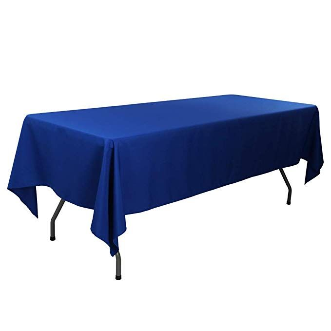 Waysle 60 X 126 Inch Rectangular Tablecloth 100 Polyester Washable Table Cloth For 8ft Rectangle Table Royal Table Cloth Rectangle Table Rectangular Table