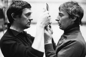 Richard Pasco and Ian Richardson rehearsing Richard II.