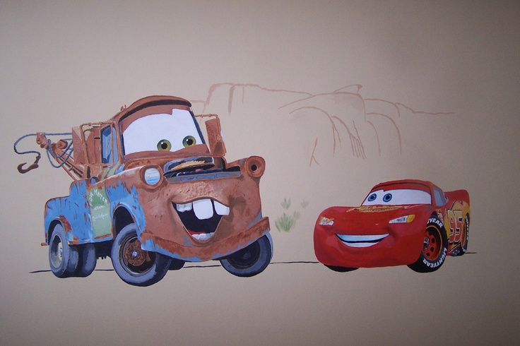 32 best images about cars theme bedroom on pinterest for Disney pixar cars mural wallpaper