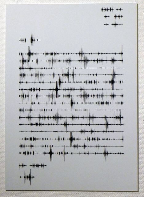 ▇ The sound of words. Project Idea: Frequency Typography. Perhaps acompanied by…
