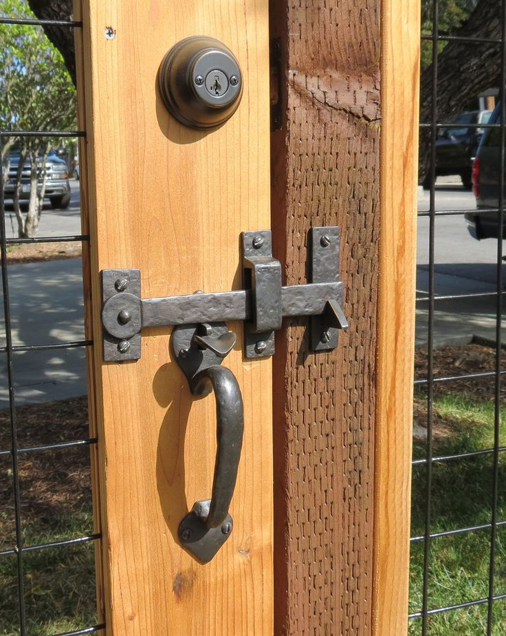 A Beautiful Gate Latch Amp Drop Bar On A Custom Gate Fence