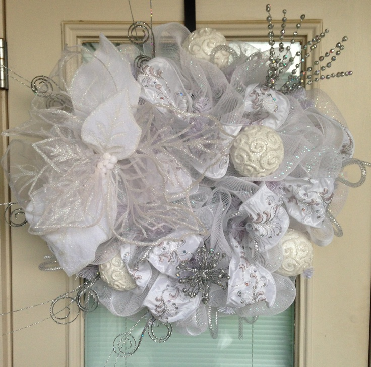 Etsy Deco Mesh Christmas Wreaths